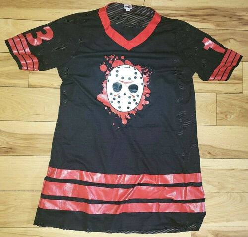 Mens Friday The 13th Jason Voorhees Jersey Costume One Size Shirt Nice