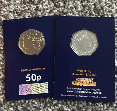 New WINNIE THE POOH BU 50p On Change Checker Card! Rare 50p Collectible Coin (6)