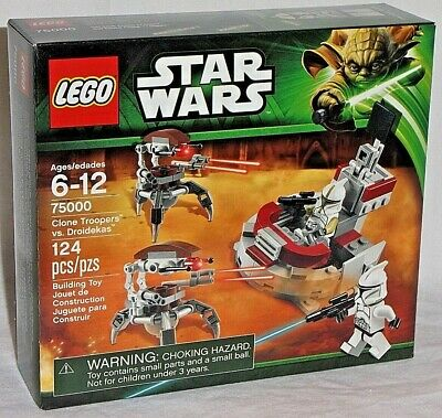 SEALED 75000 LEGO Star Wars CLONE TROOPERS vs DROIDEKAS Commander Army Builder