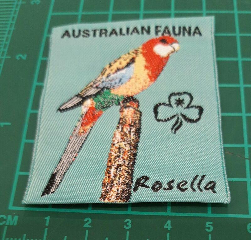 Australian Fauna Girl Guide Badge. - Rosella