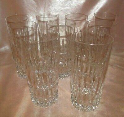 Serie Di 9 Grandi Bicchieri Da Whisky IN Cristallo Sfaccettato & Boch Modello