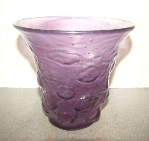 Consolidated Glass Catalonian Purple Vase