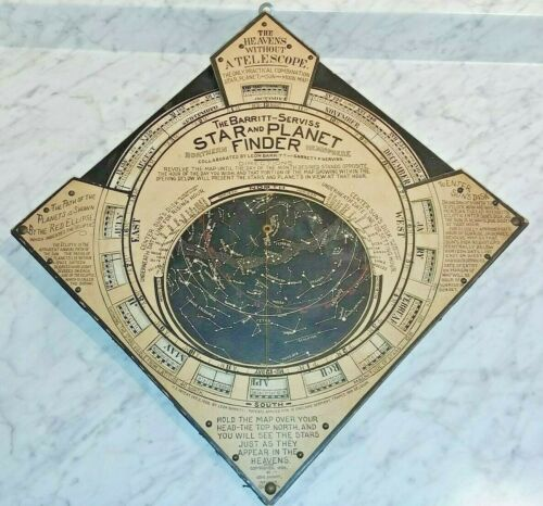 Rare Original Antique US Patent 1906 The Barritt Serviss Star and Planet Finder