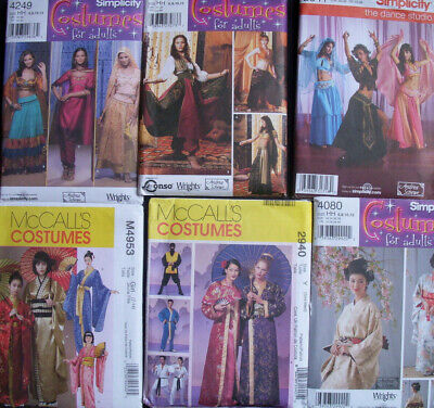Costumes Sewing Patterns Geisha Kimonos/Belly Dance/Hindu Sari Girl  Men Boys