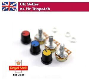 10K Linear Pot B10K Potentiometer with Coloured Knob PCB 3 pcs