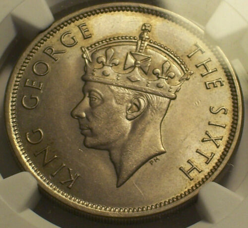 British Rhodesia, 1951 George Half Crown, 1/2 Crown. NGC MS 63. 3,200,000 Minted