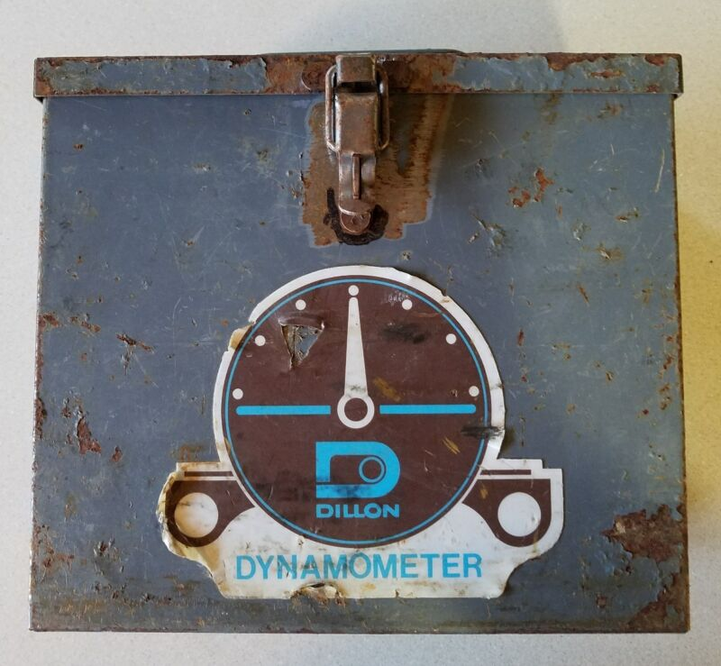 "Rusty Gold Find! DILLON DYNAMOMETER Steel Box CASE ONLY Used for 5"" 10000lb 10K"
