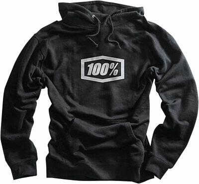 100% MX Motocross CORPO Pullover Sweatshirt Hoody (Black) S (Small)