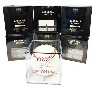 1 Max Pro Baseball Display Case Cubes 98% Archival UV Protection and Cradle