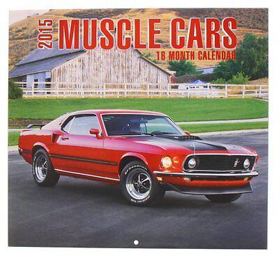 2015 Muscle Cars Calendar  12  X 12