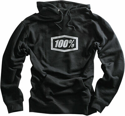 100% MX Motocross CORPO Pullover Sweatshirt Hoody (Black) M (Medium)