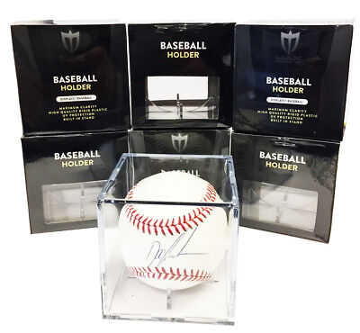 (12 Max Pro Baseball Display Case Cubes 98% Archival UV Protection and Cradle)