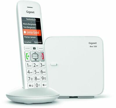 Gigaset E370 Weiß Schnurlostelefon ECO-DECT Große Tasten SOS-Funktion BRANDNEU