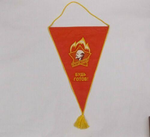 "U.S.S.R. Lenin  Propaganda banner ""Be Ready!"" ""Alway"