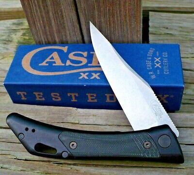 Case xx Shark Tooth Liner Lock Knife Black Anodized Aluminum G-10 S35VN 53503