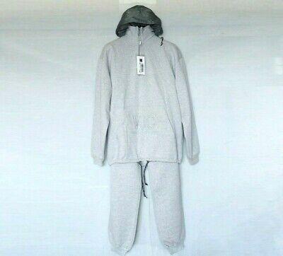 VERSACE men tracksuit sweat pants hooded jacket set grey coat L XL jeans couture