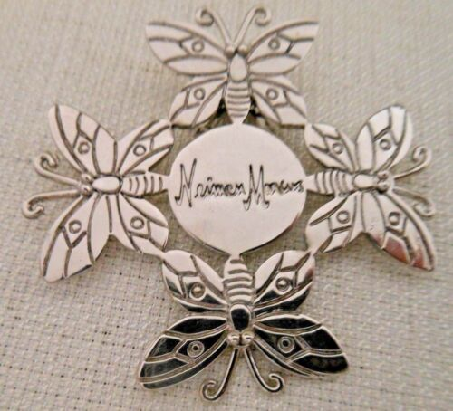 Neiman Marcus Designer Emilia Castillo Silver Butterfly Gift Hair Scarf Clip NEW