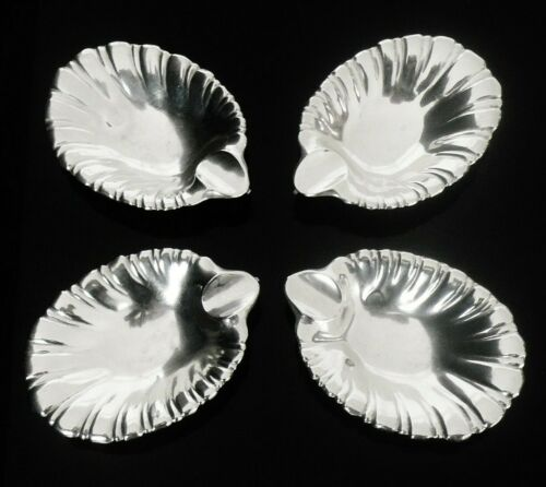 4 American Sterling Silver Ash Trays, Ayre & Taylor Co, 20th Century