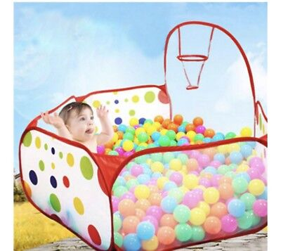 Portable Kids Outdoor Indoor Play Game Ocean Ball Pit Pool Children Toy Tent USA - Small Ball Pit