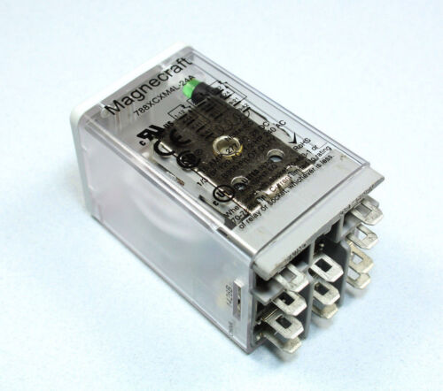 Magnecraft Power Relay, NEW, 3PDT, 12A, 24VAC, 788XCXM4L-24A Quick Connect