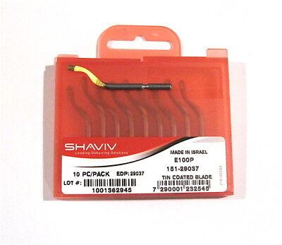 Shaviv E100p Tin Coated Cutter Deburring Blade 151-29037 0r 29037