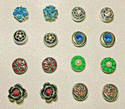 Pair Ginger Snap 12MM Button for Earrings, Bracelet Pendant or Rings  - Ginger Snap Rings