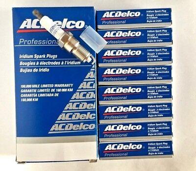 8x ACDelco Iridium Spark Plugs for Cadilac GMC Pontiac Hummer 41-110 12621258