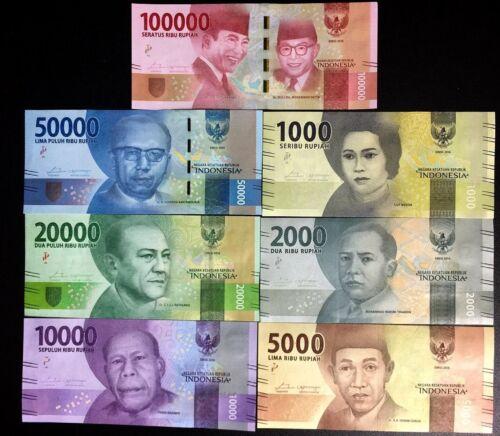 SET Indonesia 1000;2000;5000;10000;20000;50000;100000 Rupiah 2016 -2017 New UNC