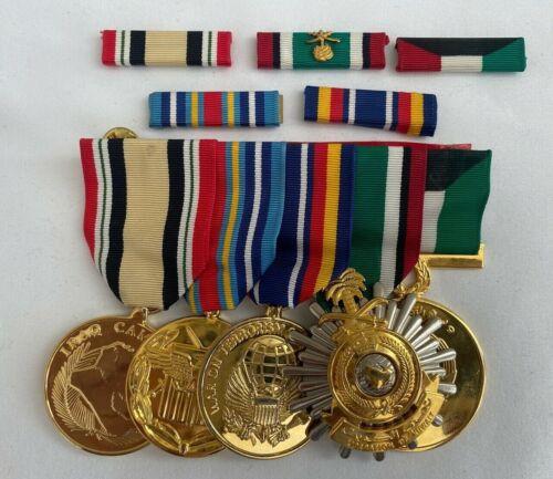 5 US NAVY MEDALS & BARS WAR ON TERRORISM IRAQ CAMPAIGN LIBERATION OF KUWAIT +