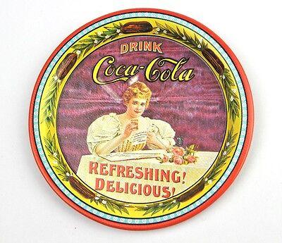Schöner Metall Blech Coca-Cola Ø 9 Untersetzer Coaster Coke USA 1976 sous-bock