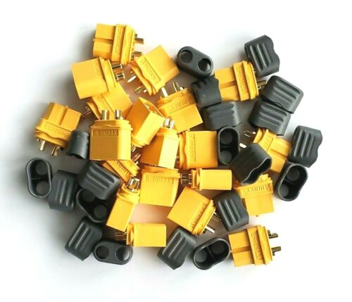 20 Pcs Amass XT60H Connector Plug Male/Female Gold Plated with Protective Shell