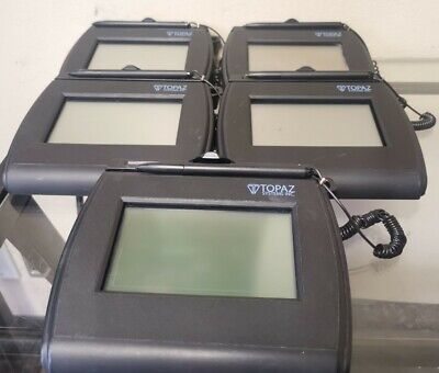 Lot Of 5 Topaz Lite Lcd 4x3 Electronic Signature Pad Usbserial T-lbk750-bhsb-r
