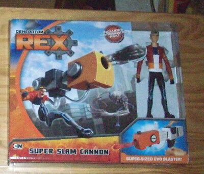 GENERATOR REX SUPER SLAM CANNON LAUNCHER + ACTION FIGURE NEW