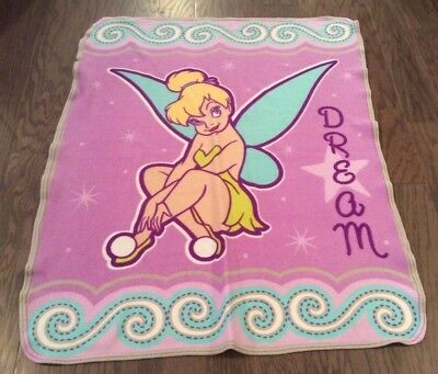 - Tinkerbell Fairy Fleece Throw Blanket Toddler Dream