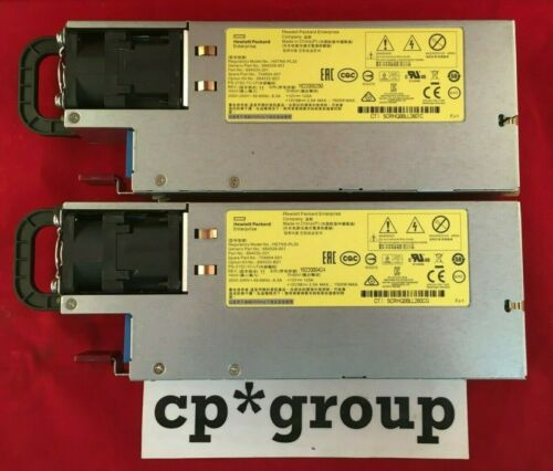 LOT OF 2 HP 684532-B21 1500W AC Common Slot Platinum+ Power Supply 704604-001