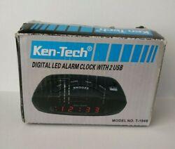 Sonnet T-1949 LED Alarm Clock - 2 USB 1.0A SmartPhone / 3.1A  Tablets Chargin