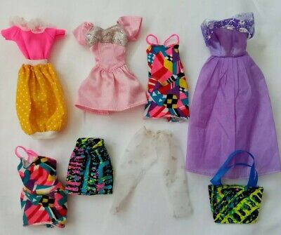 Vintage/ Retro Barbie / Cindy Dolls Clothes - 8 Pieces Dresses, Skirt  80s/90s