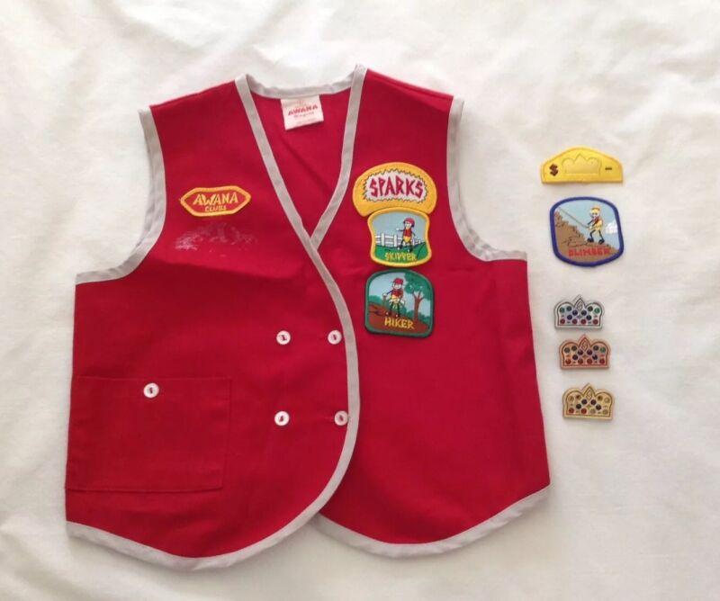 Vintage Awana Clubs Vest Patches & Awards Size Large