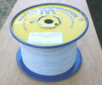 Markel 26 Awg 7 X 34 Copper Etfe Tefzel 5000 Feet Tinned White