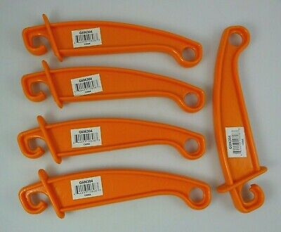 Lot 5 Gallagher Insulgrip G606304 Gate Hook 8 Handle Orange Electric Fence Farm