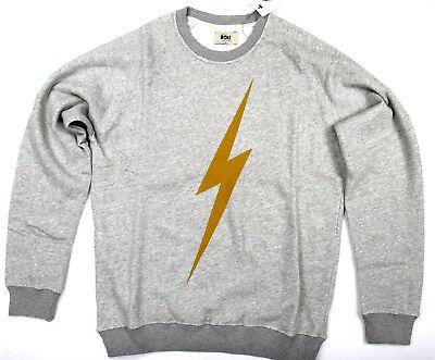Lightning Bolt Long Sleeve Crew Neck Sweater Bolt Heather Grey Surf  Bolt  ()