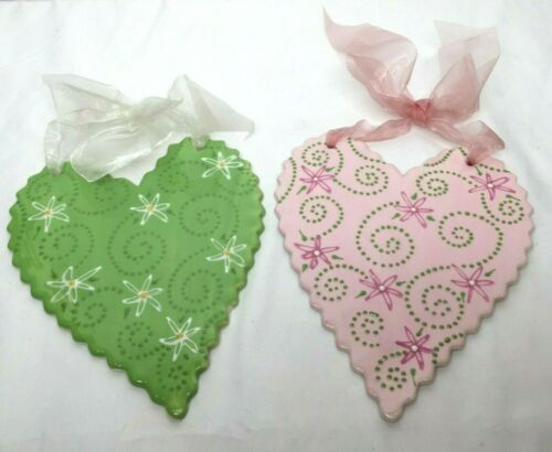 Practically Porcelain Pottery by Gina Atkinson Heart Wall Décor Valentine Spring