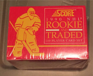 1990 Score NHL Rookie & Traded cards