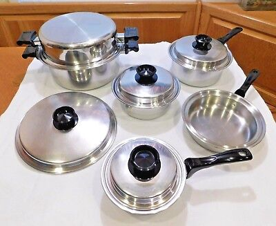 10 pc THERMO SENTINEL Forma Plex 304 Stainless Steel Quality Waterless Cookware