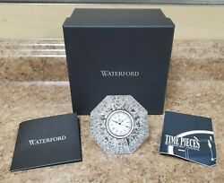 *Waterford Crystal Classic Lismore Diamond Clock 156703 Pre-owned w/ Box