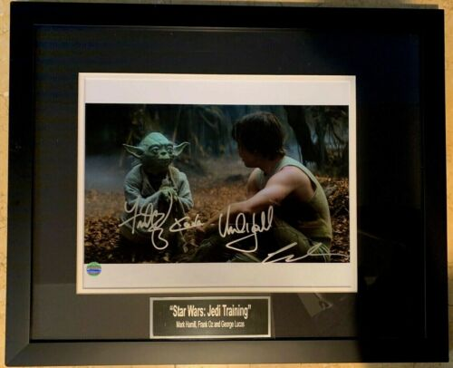 Star Wars: Jedi Training Autographed Photo Signed by George Lucas + more w/ COA