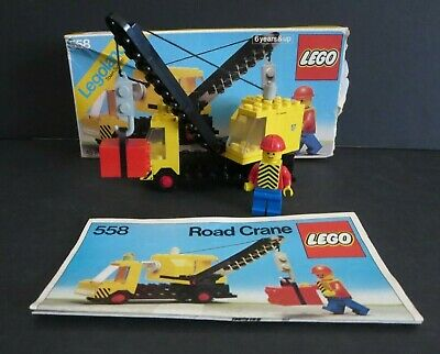 """LEGO VINTAGE TOWN SET #558 1979 """"ROAD CRANE"""" WITH BOX + INSTRUCTIONS"""