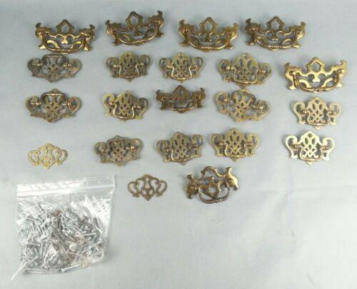 19 Vintage Metal Drawer Handles Brass Salvaged Wint P
