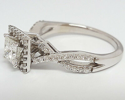 0.77 ct 14K White Gold Princess Cut Diamond Engagement Ring GIA G / VS2 11
