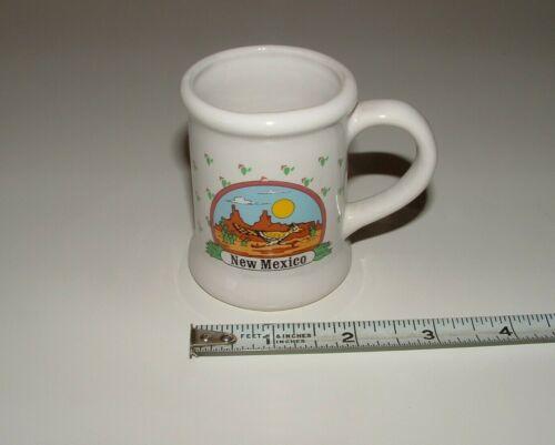 New Mexico Decor Mini Ceramic Mug, Roadrunner Design, Age Unknown, pre-owned